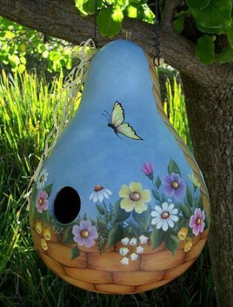 домиков из тыкв для птиц