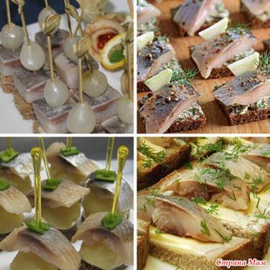 Рецепты холодных блюд бутерброды